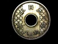 10 sen 1933 Japón era Showa (TA5)