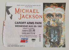 Michael Jackson Dangerous Concert Ticket Cardiff Arms Park 1992