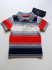 Tommy Hilfiger Polo Shirt Boys Striped Classic Knit Top New With Tag