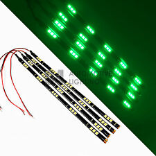 """4x Green 12"""" LED Strip 15 SMD Car Footwell Under Dash Accent Light Waterproof"""