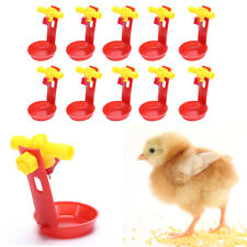 10setsChicken waterer cups bird feeding cup quail bird poultry cage automatic TS