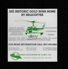 EVERGREEN HELICOPTERS OF ALASKA 1980  SEE HISTORIC GOLD RUSH NOME AD