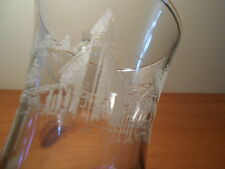 Etched Winter Church scene Votive Cups Vintage Home Interiors Lot of 4