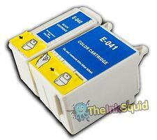 1 Set t040/t041 Compatible no-OEM Cartuchos De Tinta Para Epson Stylus C62