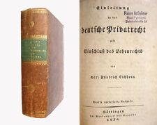 Eichhorn - Einleitung in das deutsche Privatrecht - 1834