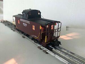 MTH PREMIER TRAINS-3-RAIL PENNSYLVANIA PRR N6B CABOOSE W/LIGHTS-20-91123 O-SCALE