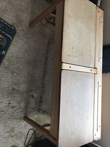School Children's Child's Kids Double Desk Wooden Hinged Lids