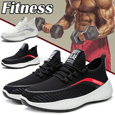 Men Mesh Sneakers Fitness Exercise Breathable Casual Sports Running Gy