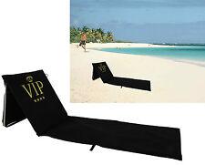 Gepolsterte Strandmatte VIP verstellbare Rückenl. Strandliege Gartenliege V.I.P.