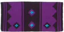 MAYATEX SADDLE BLANKET PAD APACHE WESTERN PURPLE AND BLACK HORSE TACK