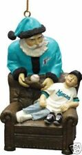 "MIAMI Florida Marlins Santa's Gift Ornament 4"" NEW In BOX CHRISTMAS"