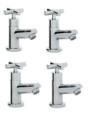 Bristan Modern Hot & Cold Bath & Basin Cross Head Taps, Chrome
