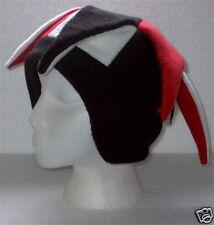 NEW fleece jester snowboard hat- red/black/white