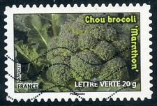 TIMBRE FRANCE AUTOADHESIF OBLITERE N° 743 / FLORE LEGUMES / CHOU BROVOLI