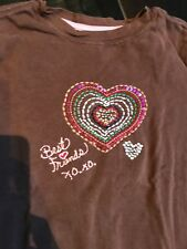 """Gap Kids girl Brown/Pink """"Best Friends"""" long sleeve top shirt size S 6-7"""