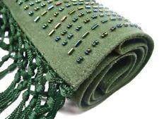 DYRBERG Kern extravagant roseaux vert écharpe étole avec applications