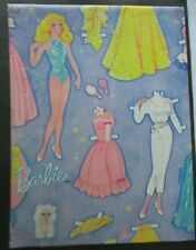 Vintage Wrapping Paper Gift Barbie Doll Mattel Gibson Birthday toy gown hat