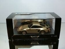 NEO SCALE MODELS PORSCHE 930 SE USA - GOLD 1:43 - MINT CONDITION IN BOX