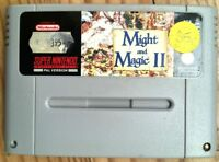 MIGHT AND MAGIC 2 NINTENDO SNES NES PAL NOE FRG SNSP-MG-NOE GAME SPIEL & N II ET