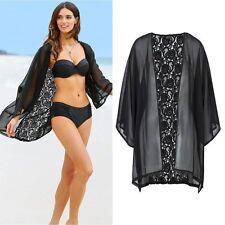 Women Vintage Lace Loose Shawl Kimono Cardigan Boho Chiffon Tops Jacket Blouse