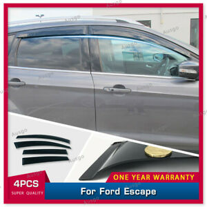 AUS Weather Shields Weathershields Window Visors for Ford Escape 16-19
