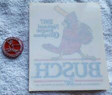 Vintage St Louis Cardinals Standings Magnet & Anheuser Busch Beer Window Decal