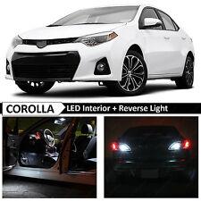 White Interior & Reverse LED Lights Package for 2004-2016 Toyota Corolla