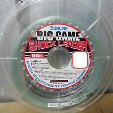 1pc Sunline Big Game Mono Shock Leader Nylon Monofilament 50m Choose Size