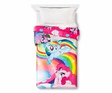 My Little Pony Sparkly Glitter Twin Microfiber Comforter NIP