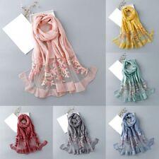 Silk Organza Scarf Luxury Brand Long Warm Winter Scarf Women Fashion Print Shawl