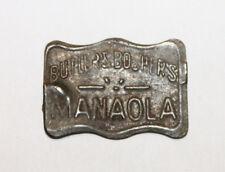 Vintage Butlers & Boshers Manaola Tin Tobacco Tag