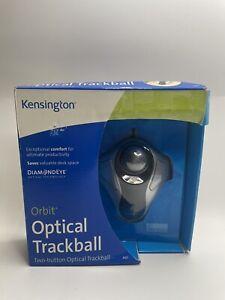 Kensington Orbit Optical Trackball USB Wired Mouse Silver K64327 New Sealed