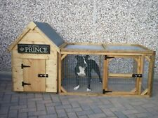 Dog Kennel and Run for Small/Medium Dog with 4' x 3' Run - Quality item