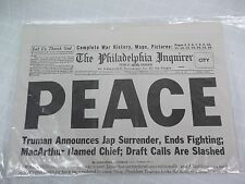 The Philadelphia Inquirer Newspaper - August 15, 1945 *REPRODUCTION*
