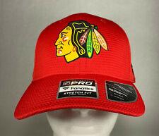Fanatics NHL Chicago Blackhawks Team Logo Stretch Fit Hat, Large-XLarge