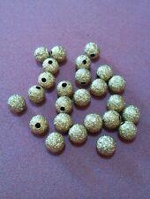 25pz perle metalliche spacer separatori da 6mm colore oro (art 000004)
