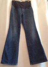 Gap Maternity~Blue Denim Full Panel Jeans~Stretchy~Size 4~Great Post-Partum Too!