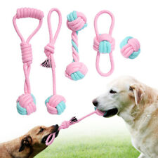 Aggressive Pet Dog Chew Toys Durable Braided Cotton Rope Dog Bite Tug Balls Play