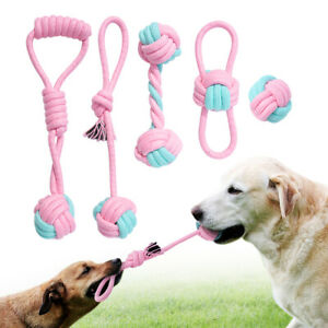Aggressive Pet Dog Chew Toys Durable Braided Cotton Rope Dog Bite Tug Balls Play