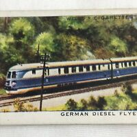 German Diesel Flyers Locomotive Train Wills Cigarette Tobacco Card Vintage 1930s