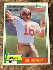 1981 Topps #216 Joe Montana RC EX-EXMT