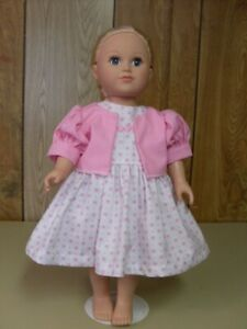 NEW  DOLL DRESS AND PANTIES  FIT I8 INCH MY LIFE DOLL WHITE PINK FLORAL
