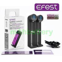 Efests Slim K2 USB Lithium Ion Battery Charger / 18650 20700 21700 26650