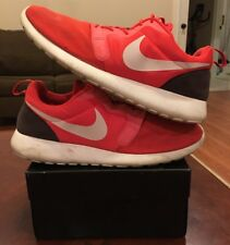 Nike Rosherun Hyperfuse Crimson Light Red Running October Orange Flynknit 12 1 2