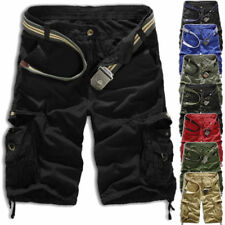 Mens Summer Casual Work Cargo Combat Shorts Camouflage Cotton Chino Half Pants