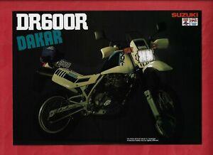 SUZUKI DR600R DAKAR MOTORCYCLE BROCHURE 1985