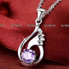 925 Sterling Silver Angel Wings Necklace Gifts for Her Wife Mum Girlfriend J365