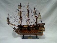 """Le Soleil Royal 16"""" Quality Beautiful Wood French War Ship L50 Free Shipping"""