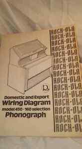 Rock-Ola Model 450-160 Domestic & Export Wiring Diagram Jukebox Manual