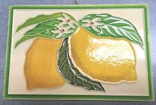 Vietri Pottery-6x4 inch tile with lemon.Made Painted by hand in Italy